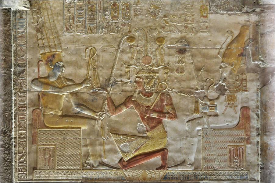 Фреска в храме Сети I